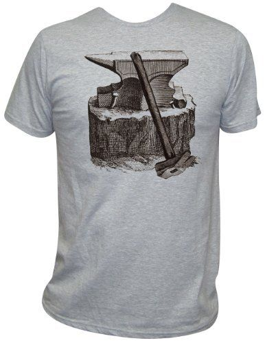 Men's Annex Clothing Anvil Old-School Steampunk Art Design Print T-Shirt Heather Gray Black Market-Lowbrow, http://www.amazon.com/dp/B006C4GGXS/ref=cm_sw_r_pi_dp_t9rDqb1JH78G2