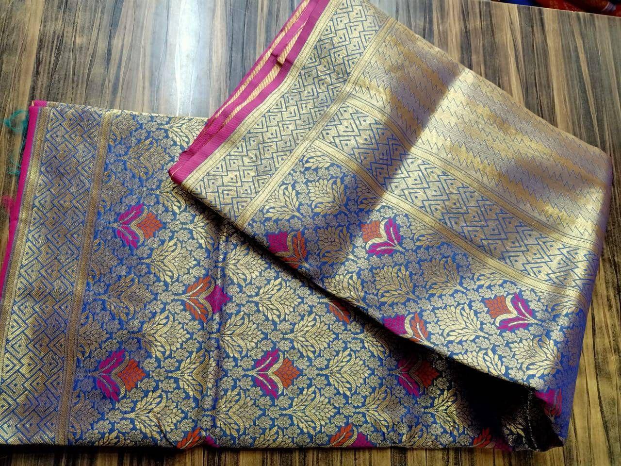 Photo of Pure Banarasi silk weaving jari work saree / designer saree / saree for women / sarees / sarees / wedding saree / saree blouse / saree