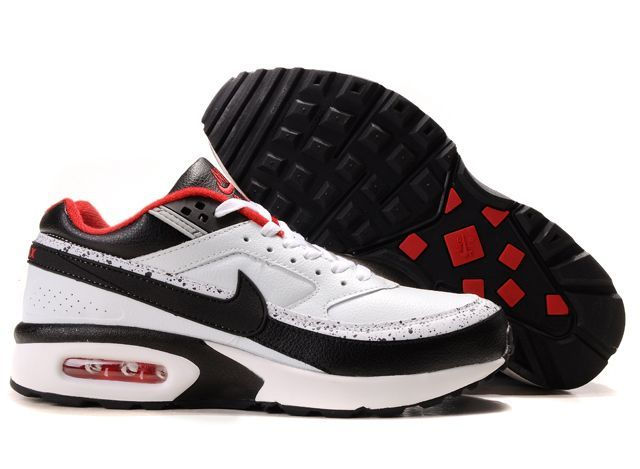 Nike Air Max Bw White Black Upper And Black And Red Sole