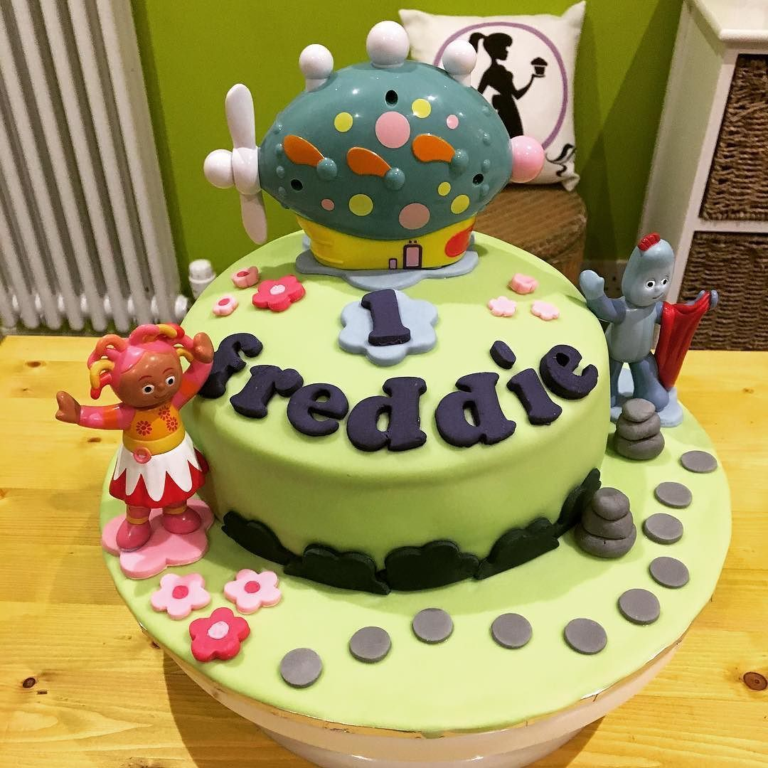 Fully Vegan In The Night Garden Birthday Cake Egg free Dairy free