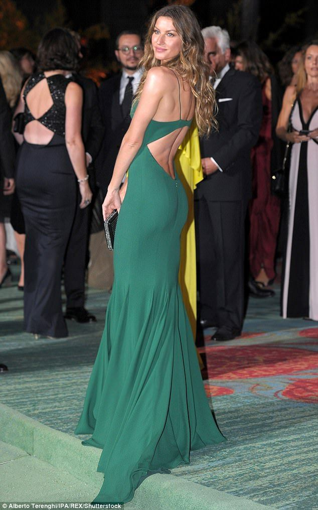 8be6b20d8a92 Gisele Bundchen attends the Green Carpet Fashion Awards | Daily Mail Online