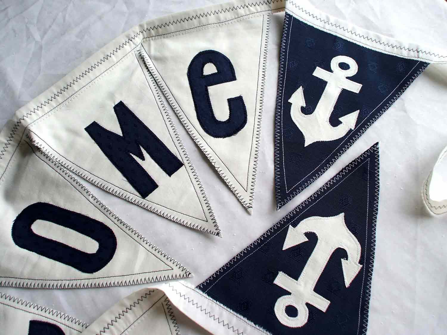 Nautical WELCOME Banner with Anchors. Decoration for Nautical Theme ...