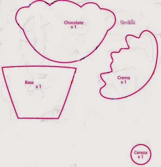 Manualidades y decoracion moldes apliques de cupcake - Hacer password manualidades ...