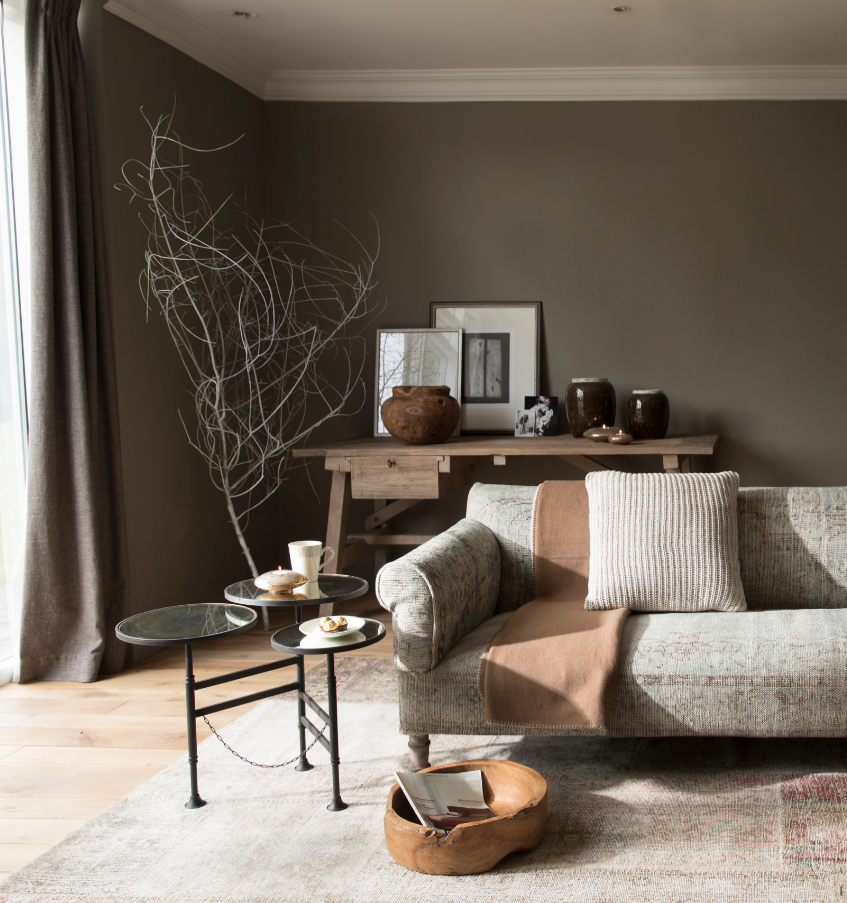 Flamant flamant pinterest salons living rooms and - Peinture salon gris et taupe ...