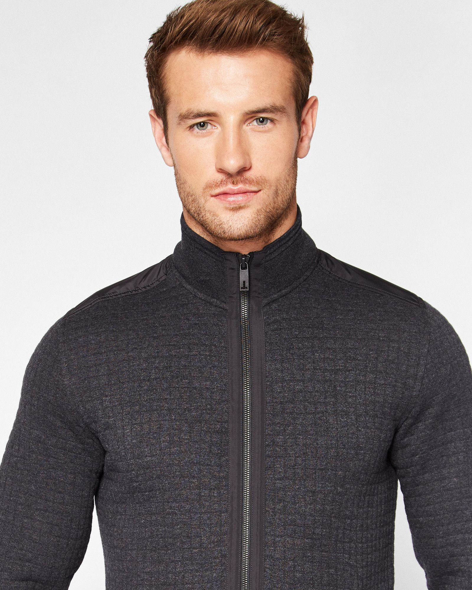 Quilted Bomber Jacket Charcoal Clothing Ted Baker Designer Clothes For Men Quilted Bomber Jacket Bomber Jacket [ 2000 x 1599 Pixel ]