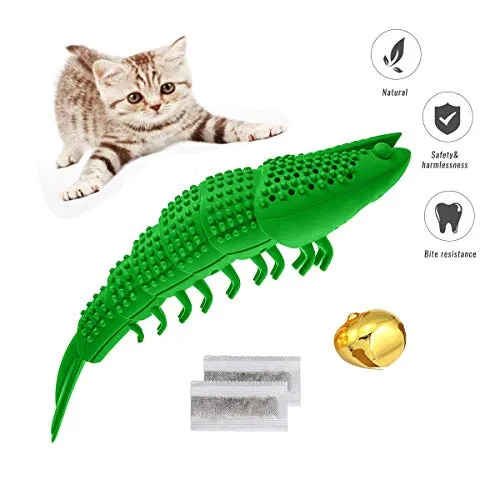 Cat Toy Interactive Toothbrush Teeth Cleaning Chew Snack Toys Cat Dental Care In 2020 Cat Toys Teeth Cleaning Kitten Teething Toys