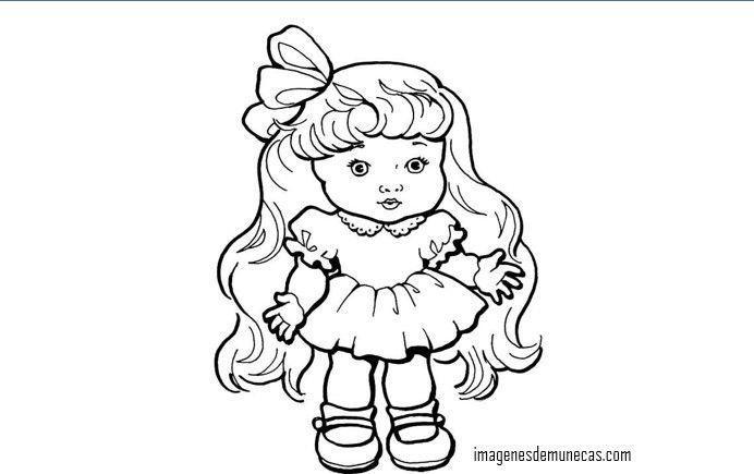 Imágenes de muñecas bonitas para colorear | IMAGENES DE MUÑECAS ...