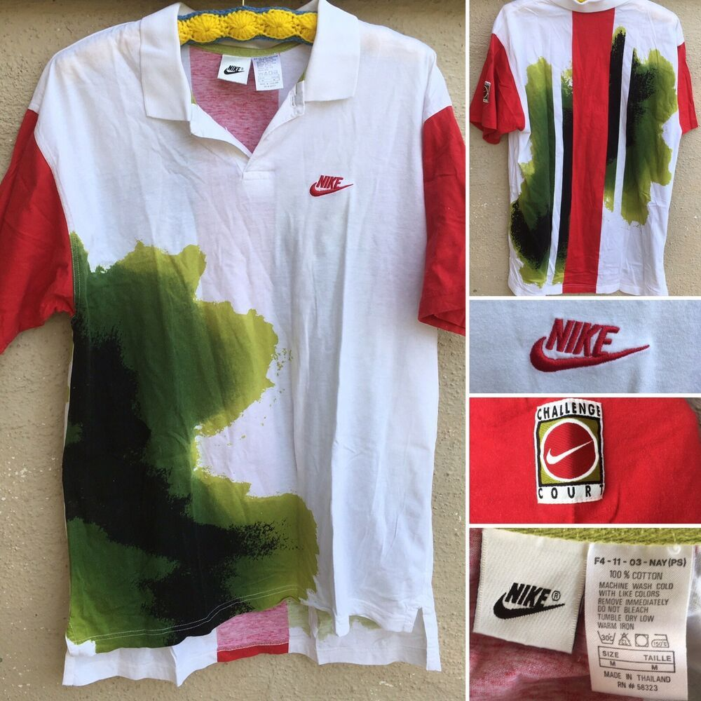 Vintage Nike Challenge Court Shirt Tennis Polo 80s 90s 1990s Size M Ebay Court Shirt Tennis Polo Vintage Nike