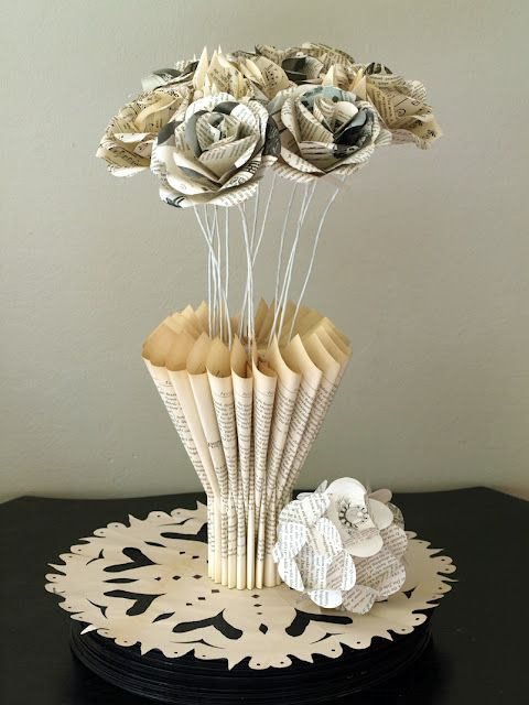 Vase out of book pages book page and paper crafts pinterest vase out of book pages mightylinksfo