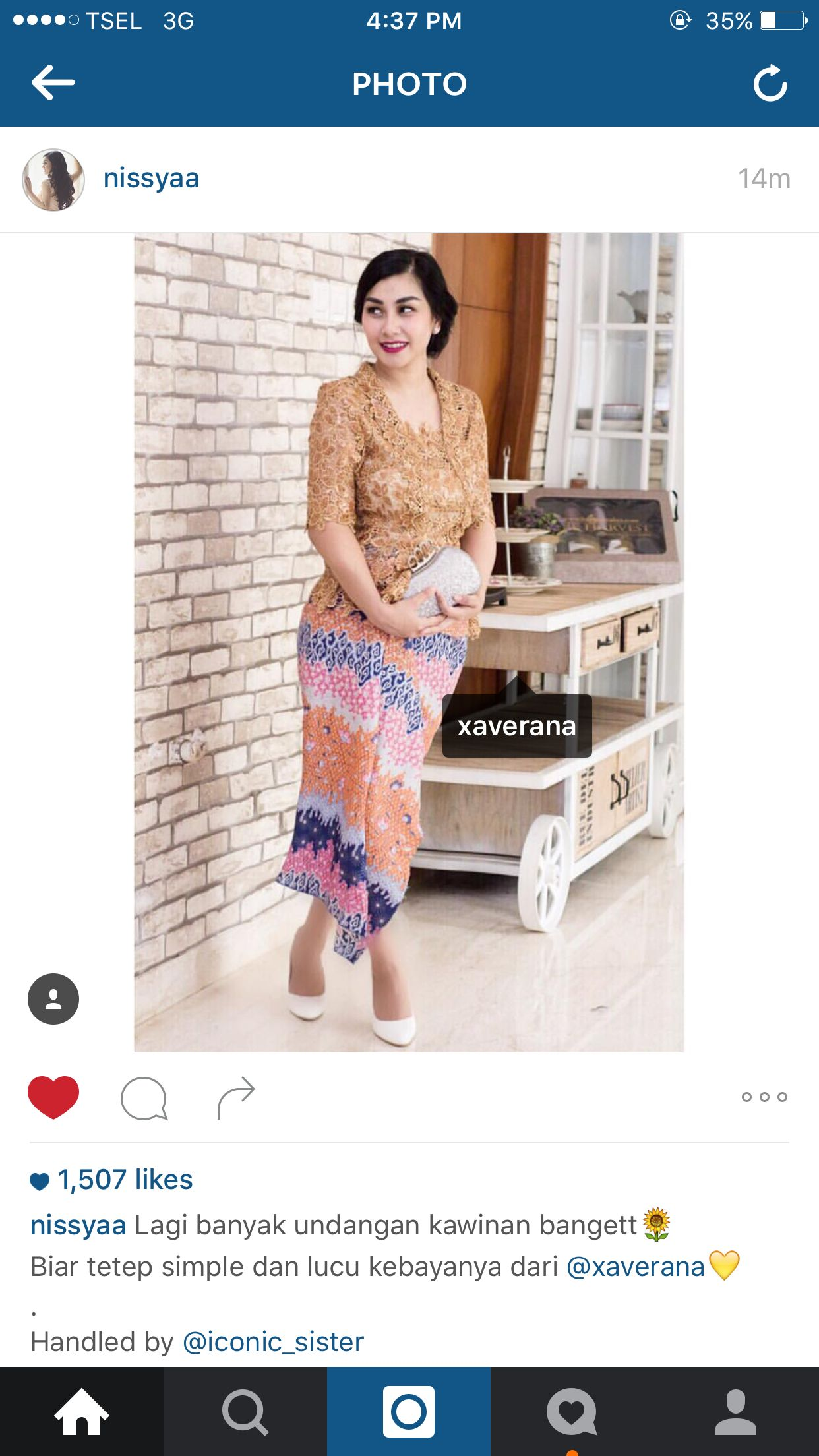 Nisyaa Achmad wearing our collection See our collection at instagram xaverana