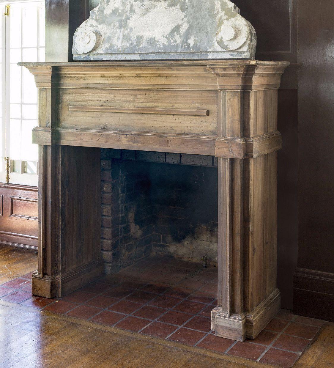 Reclaimed pine fireplace mantel in fire fireplace mantels