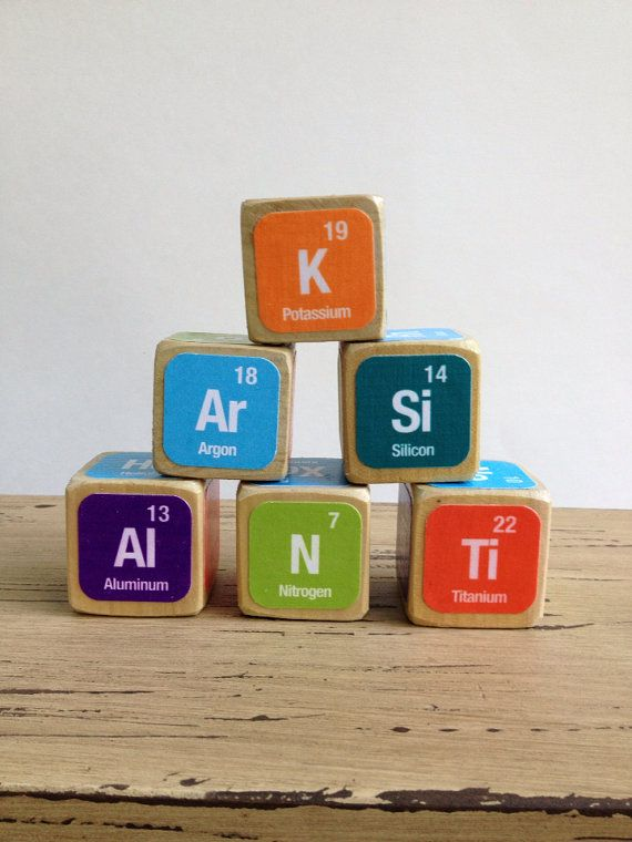 Periodic Table of Elements Childrens Blocks    Natural Wood Toy - new tabla periodica en juego didactico