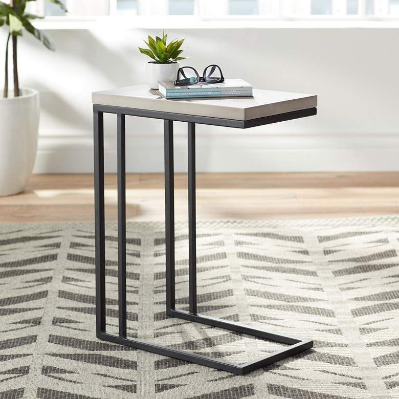 "Sawyer-C 26"" High Concrete Modern End Table - #31E14 