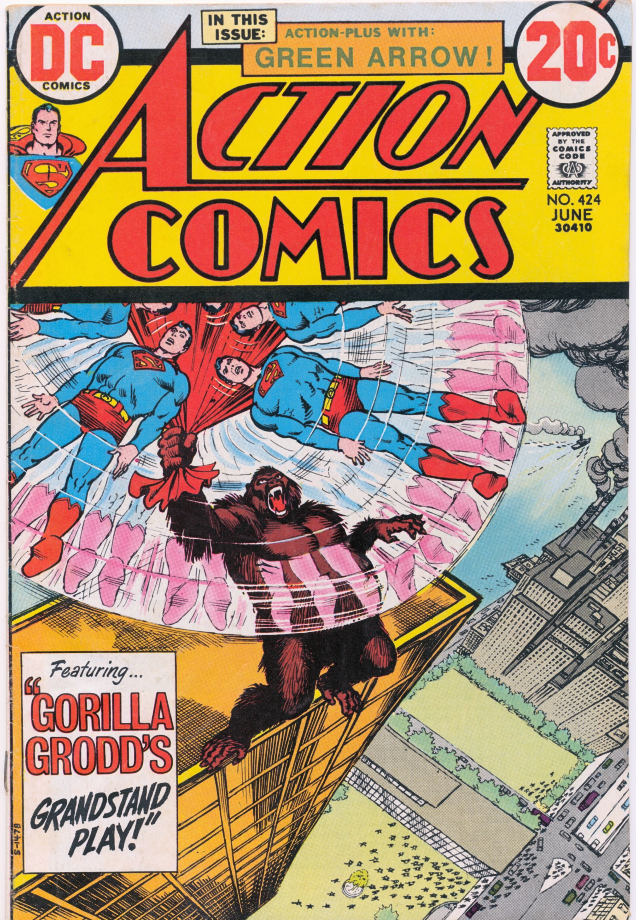 Action comics no 424 june 1973 with images comics