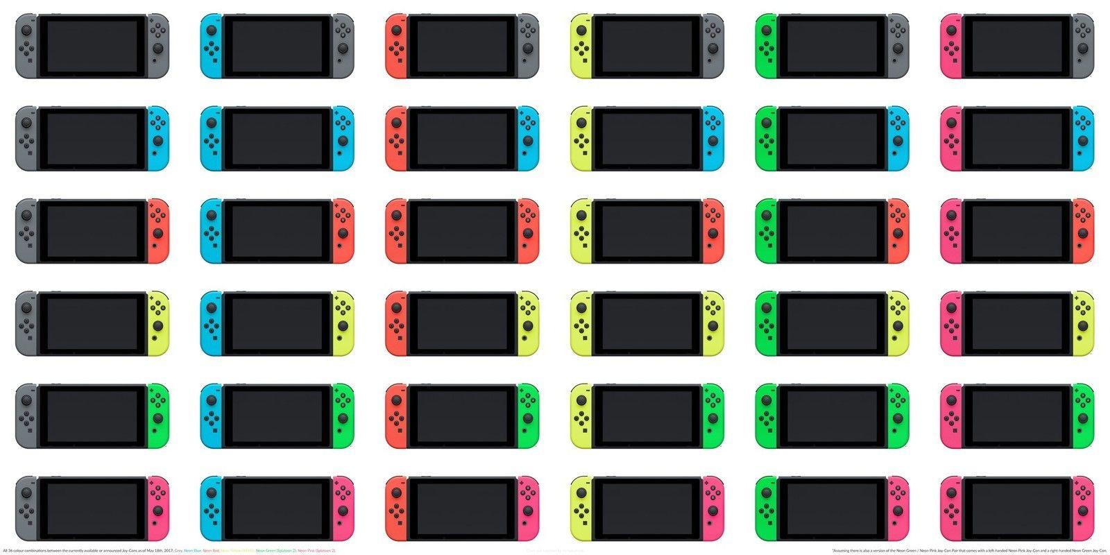 Every JoyCon controller color plus some customization