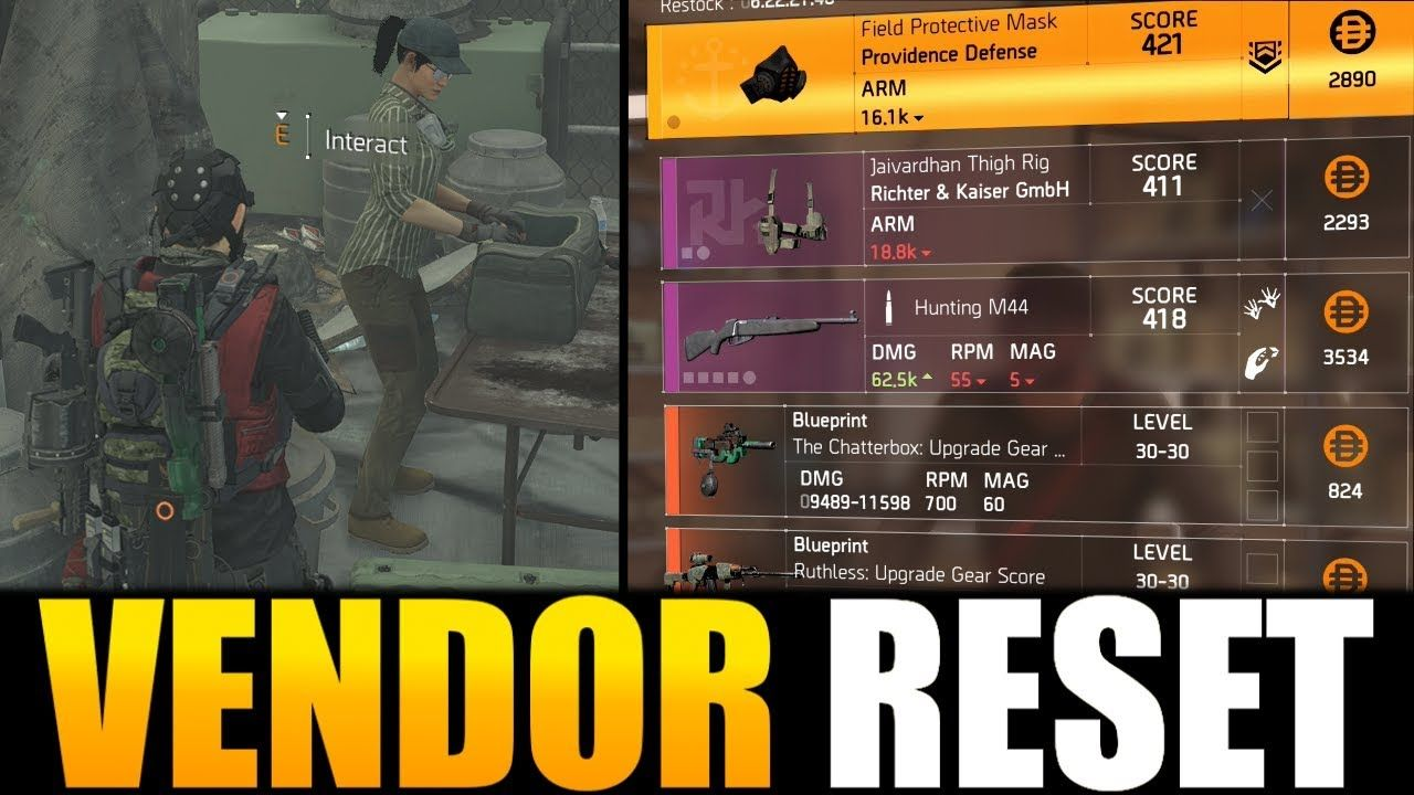 The Division 2 - VENDOR RESET | AWESOME WEAPONS, GEAR & MODS