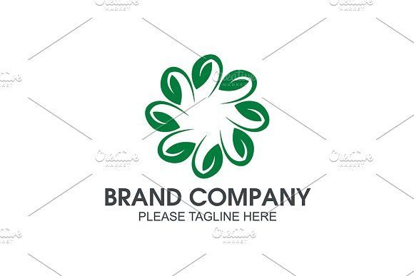 Green Leaf Templates Suitable for  Company Logo, Business, Office