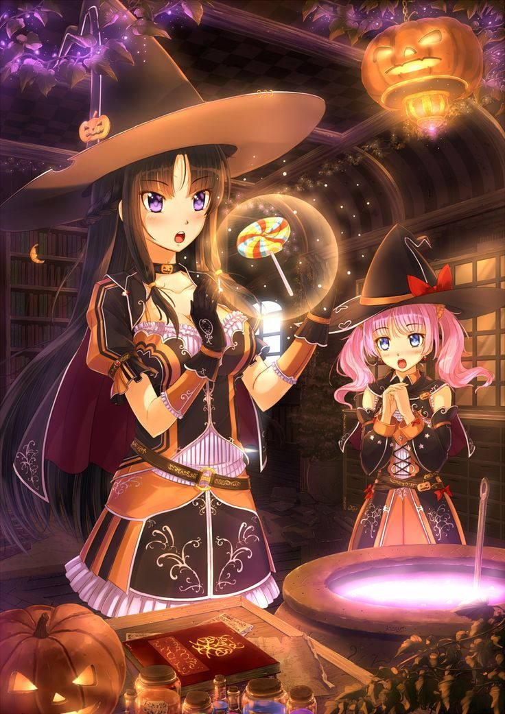 Halloween anime witches Anime halloween, Anime, Anime witch