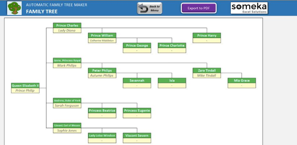 automatic family tree maker unique excel template home family
