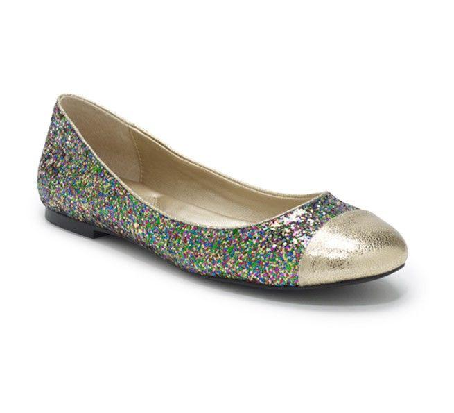 Glitter Ballet Flats $78.00