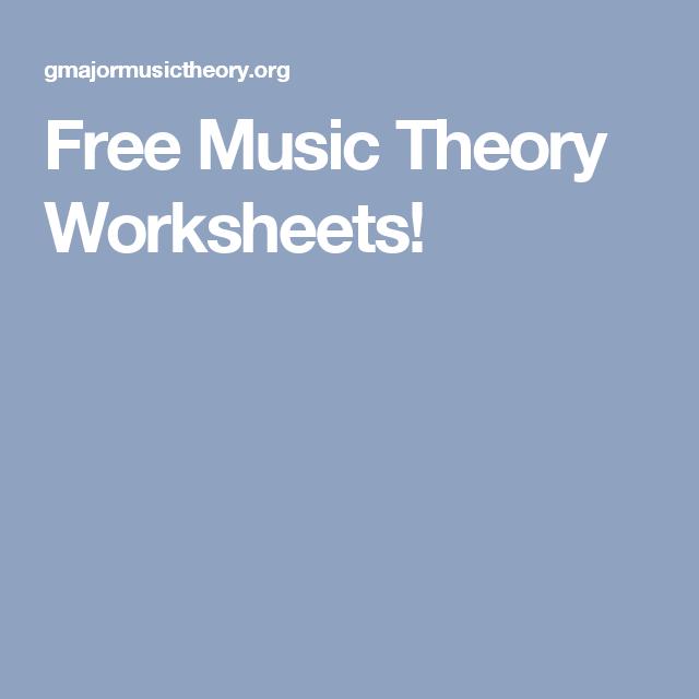 Free Music Theory Worksheets! | Piano | Pinterest | Musik