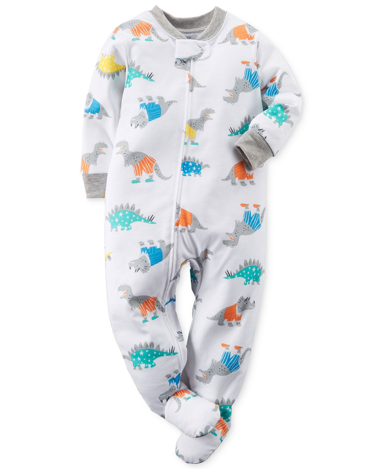 4f8e70eacc8e Carter s Baby Boys  Dino Coverall - Kids Baby Boy (0-24 months ...
