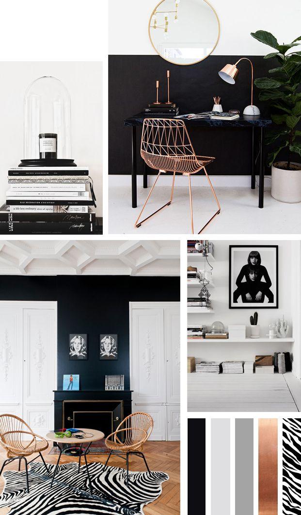 colorboost een monochroom interieur met bijzondere print roomed