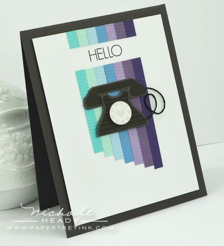 Hello Telephone Card by Nichole Heady for Papertrey Ink (May 2012) not sure I love the phone but like the layout.