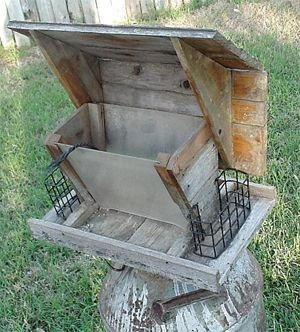 See more HERE: https://www.sunfrog.com/Pets/Crazy-Bird-Lady-4-9471-Charcoal-48011235-Hoodie.html?53507  barn wood projects | Weathered Large Barn Wood Rustic Woodland Garden Birdfeeder by Its ...