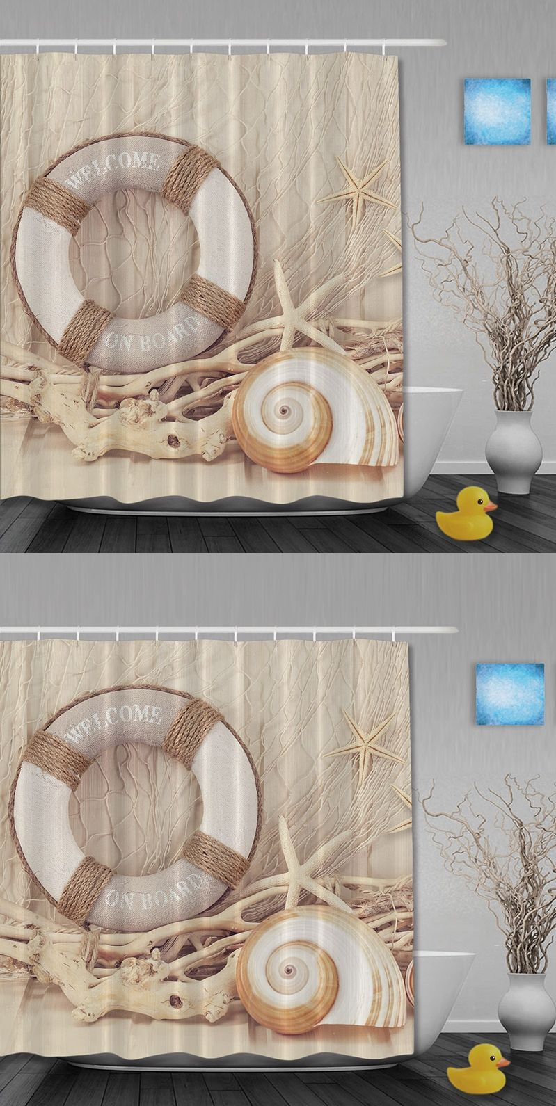 Shower Curtains Sale Custom The Sea Beach Shell Leisure Style Fabric Shower Curtains