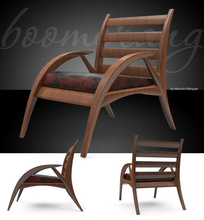 Cadeira Boomerangue Design Mauricio Marquez