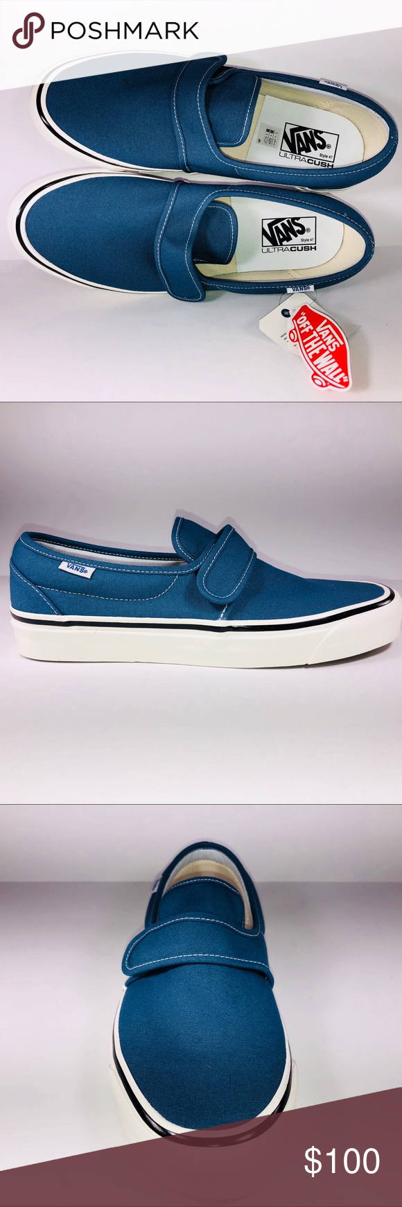 d4d6b22504 VANS Slip On 47 DX Anaheim Factory OG Navy Sneaker New With Box See  Pictures For