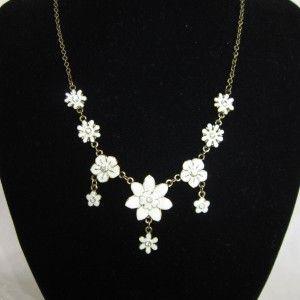 Retro blomster kæde vedhæng accessories
