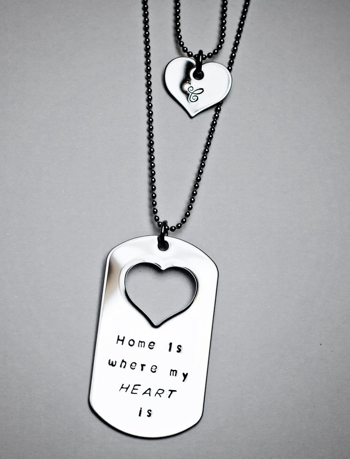 Christmas in July SALE Home is Where My Heart Is dog tag