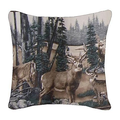 Whitetail Dreams Square Throw Pillow