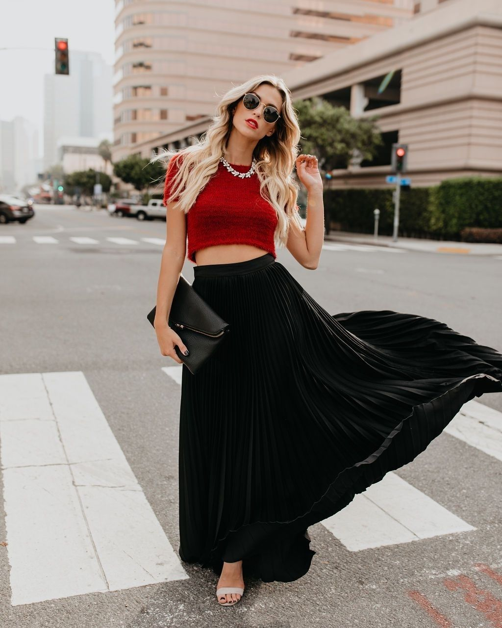 92877e3ca76d CLICK on the photo to shop this beautiful black pleated skirt :) New black  metallic pleated long skirt women maxi length metalic winter spring summer  office ...