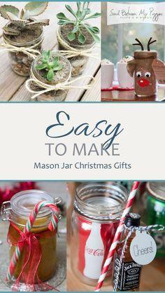 easy to make mason jar christmas gifts mason jar diy mason jar mason