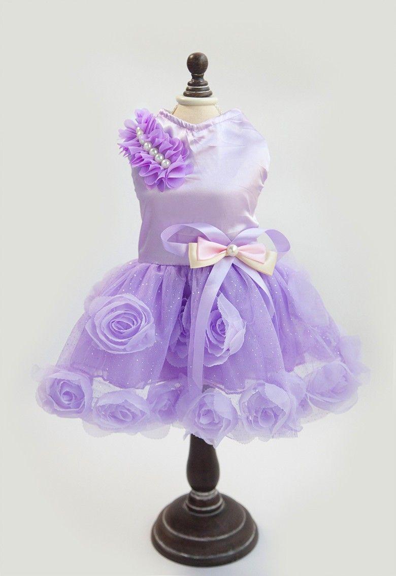 Aliexpress.com: Comprar Lujo Rosa Mascota Perro Vestido de Novia de ...