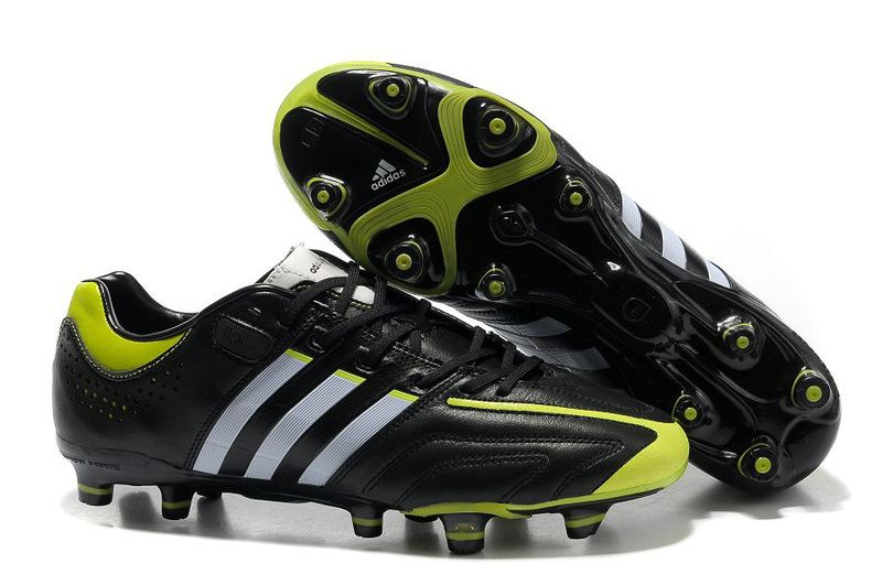 Adidas adiPure V Kaka TRX FG - miCoach compatible Firm Ground Soccer Cleats  - Black/White/Slime