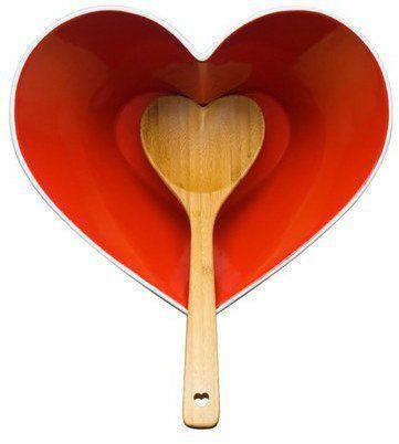 """Pin for Later: 50 kreative Geschenkideen zum Valentinstag für jedes Budget  Sagaform """"Heart"""" Schüssel und Löffel (51 €)"""