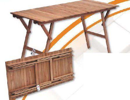 Mesas de madera plegables para exterior buscar con - Mesa de madera exterior ...