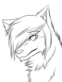 Easy To Draw Anime Wolf Google Search Wolf Drawing Easy Anime Wolf Drawing Wolf Drawing