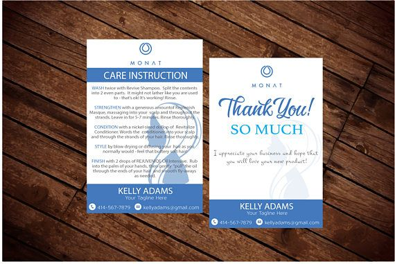 Monat Instruction Card And Thank You Card Monat Global Card Monat Sales Representative Personalized Car Personal Cards Digital Business Card Thank You Cards