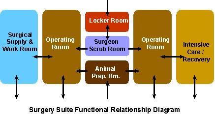 Surgery Suite Functional Relationship Diagram  Building A Vet