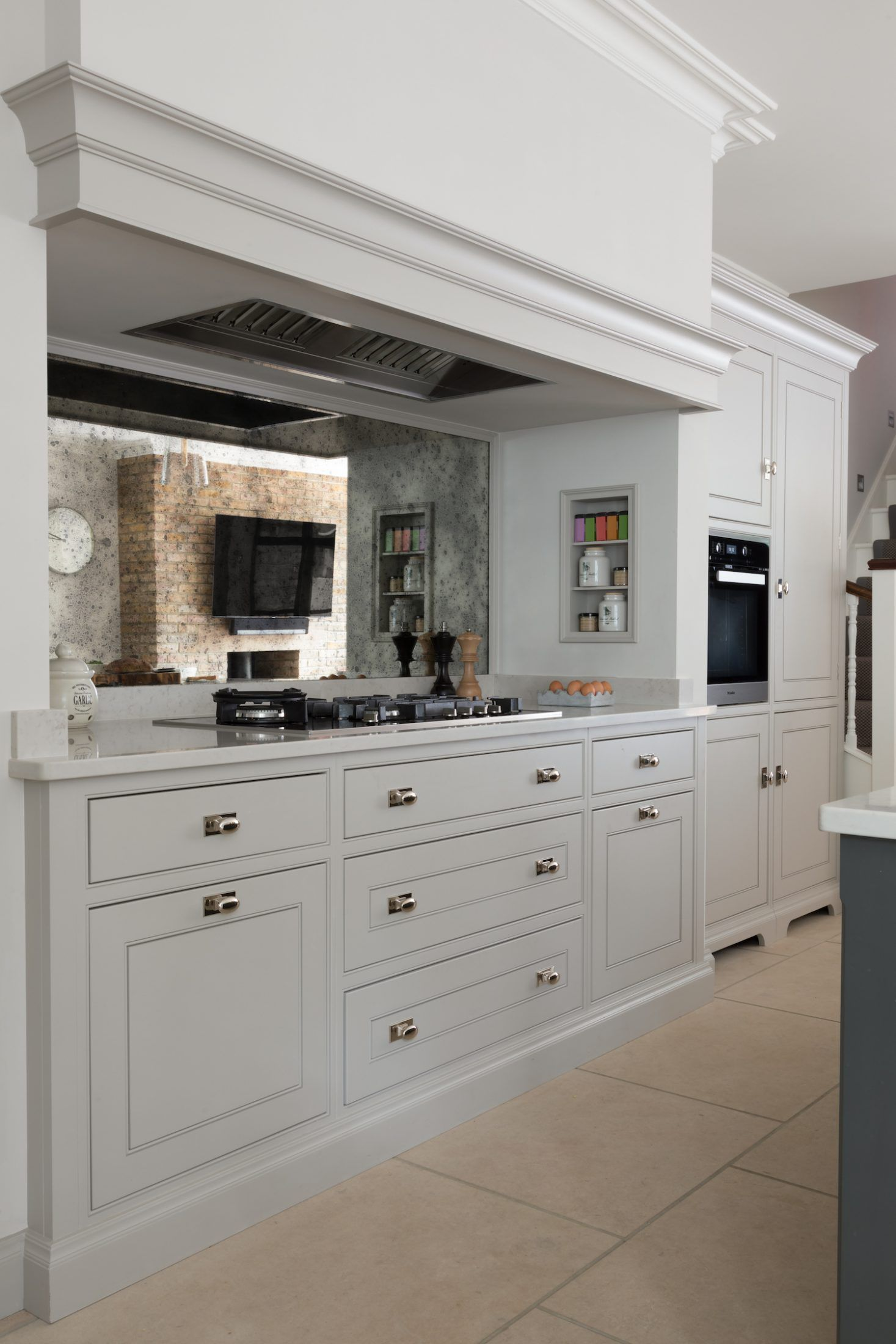 This Cooking Run Is Set Within A False Chimney Which Has A Miele Gas Hob With 5 Bu Kitchen Remodel Inspiration Open Plan Kitchen Living Room Home Decor Kitchen