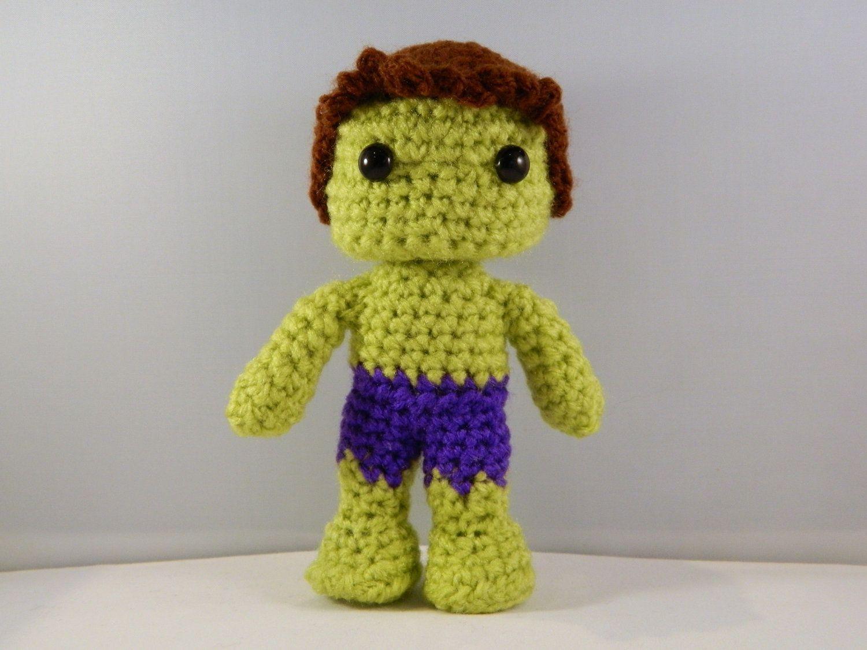 Amigurumi For Dummies Book : The hulk avengers movie inspired crochet amigurumi comic book video