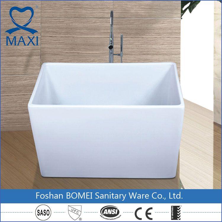 Modern Design Acrylic White Small Square Bathtub , Find Complete ...