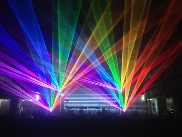 Rainbow Lasers Kino Lucerna Prague Laser Party Lights Event Lighting Backdrops