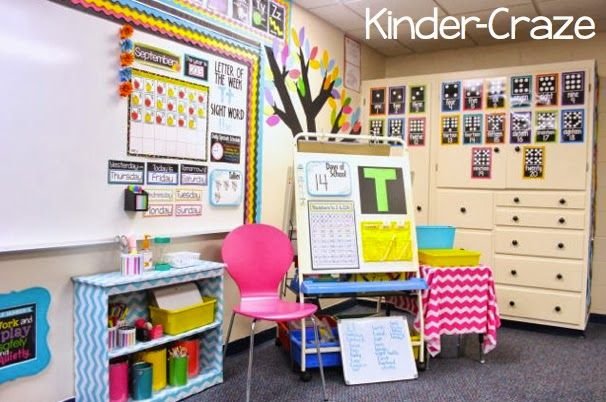 Kindergarten Classroom Calendar Wall : Cute calendar circle time area in a kindergarten classroom