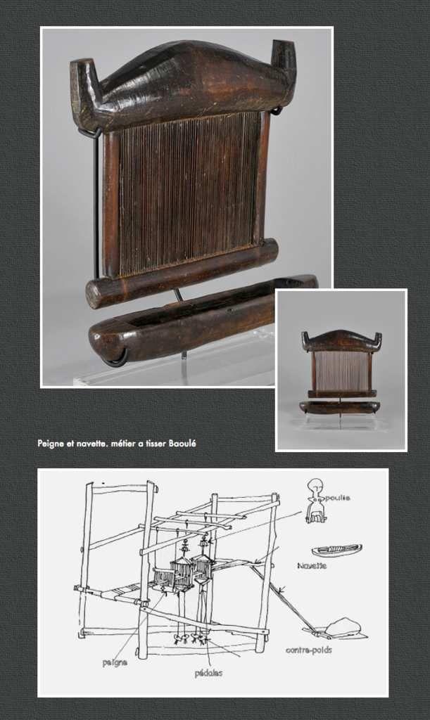 baoul cote d 39 ivoire peigne et navette de m tier a tisser baoul cote d 39 ivoire le m tier. Black Bedroom Furniture Sets. Home Design Ideas